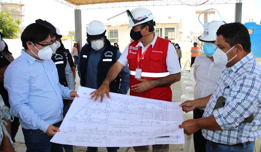 Reconstruyen colegio N° 1725 y vías urbanas por más de S/ 2.7 millones en el distrito de Guadalupe