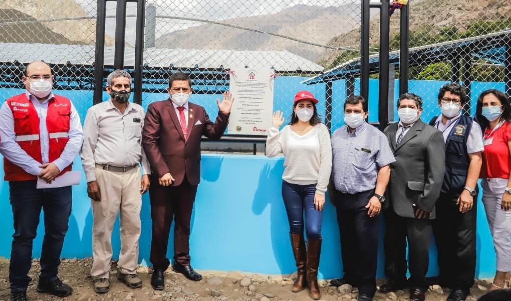 Cajamarca: Autoridad para la Reconstrucción con Cambios inaugura planta de tratamiento de aguas residuales en beneficio de CP de Llallán
