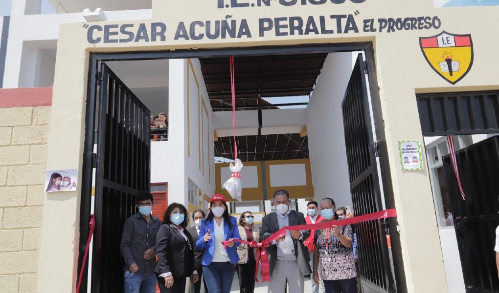 Autoridad para la Reconstrucción con Cambios inaugura tres instituciones educativas en la provincia de Chepen, La Libertad